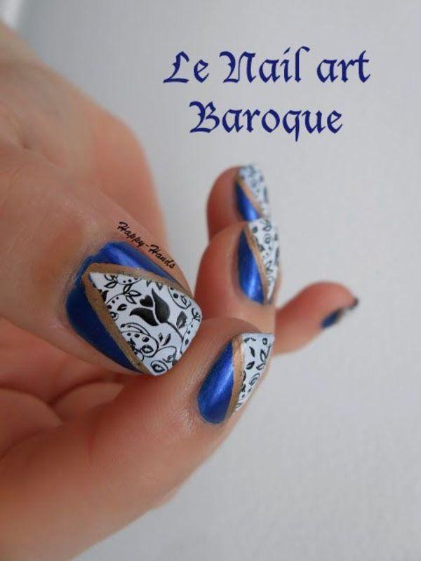 Baroque Nail nail art by Sarah Anaïs