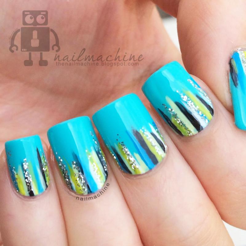 Waterfall nail art by Kimberlyn