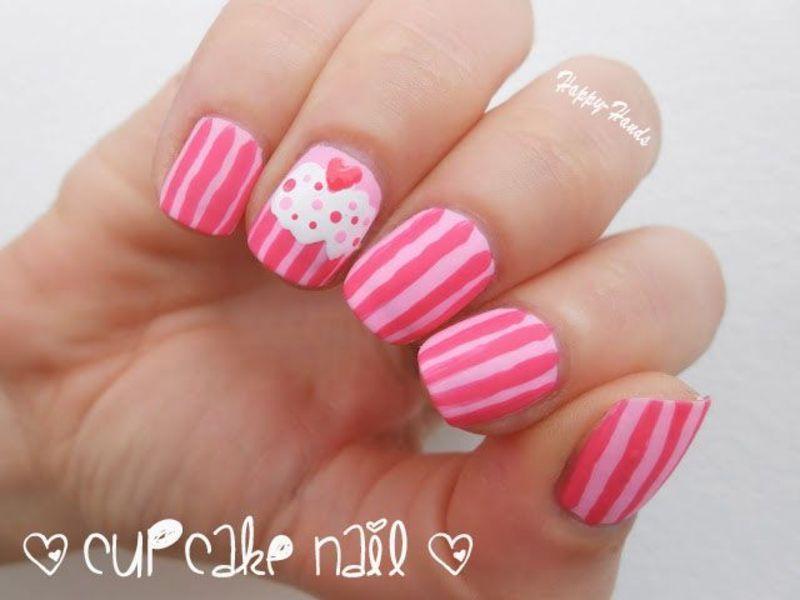 Cupcake Nail nail art by Sarah Anaïs