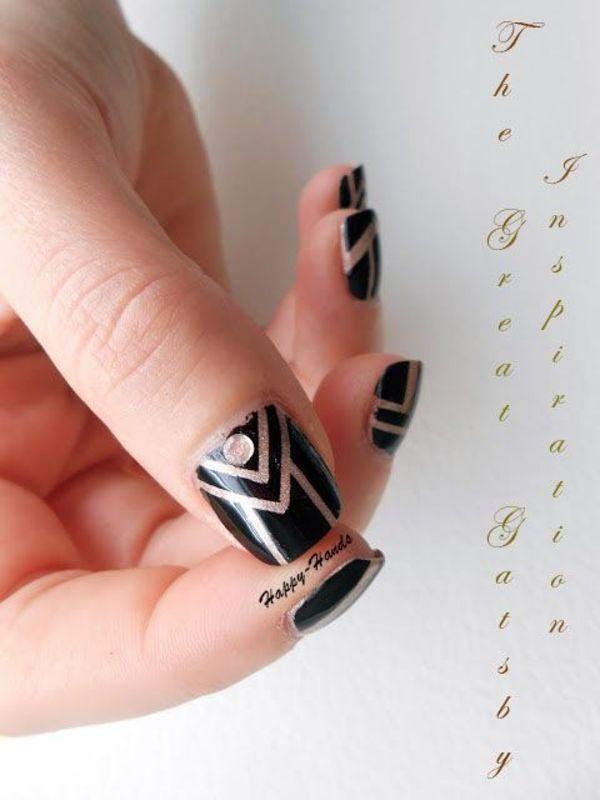 Gatsby Inspiration nail art by Sarah Anaïs