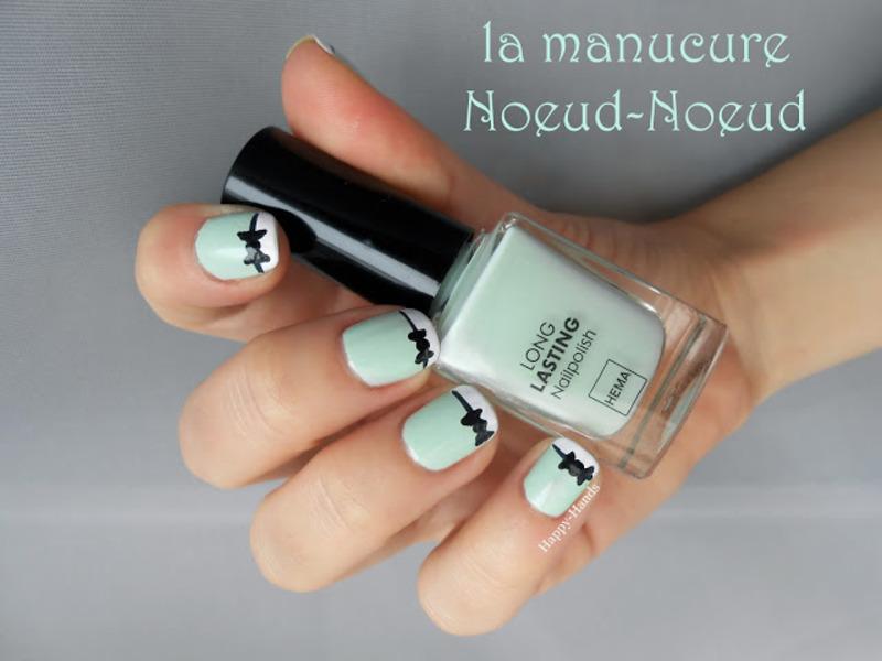 Bow Nail Art nail art by Sarah Anaïs