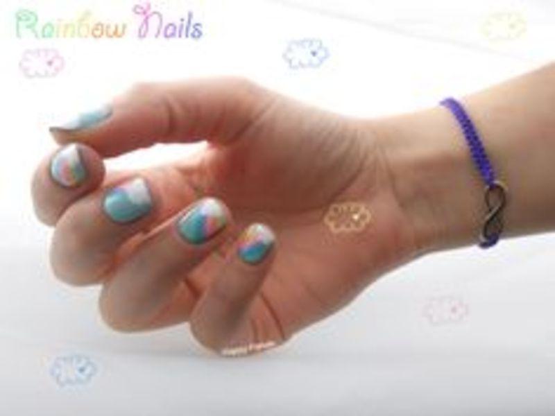 Rainbow Nails nail art by Sarah Anaïs