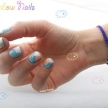 Rainbow Nails nail art by Sarah Anaïs