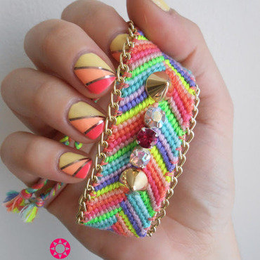 Sunset Nail nail art by Sarah Anaïs