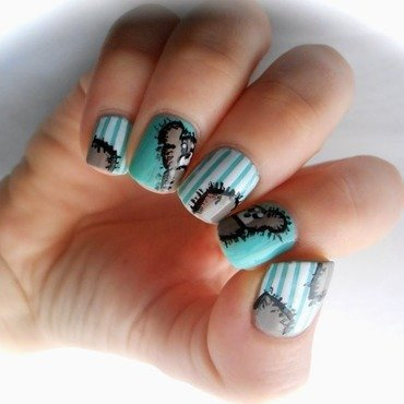 Teddy Bear Nail Art    nail art by Sarah Anaïs
