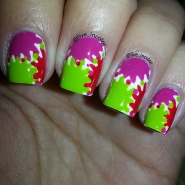 Color Splat!! nail art by kEElyN mARiN