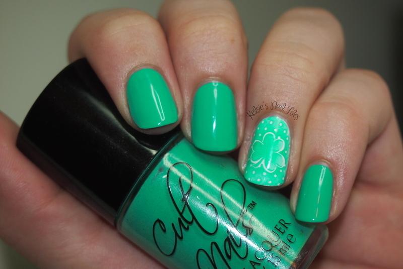 St. Patty's Day!  nail art by Kelsie