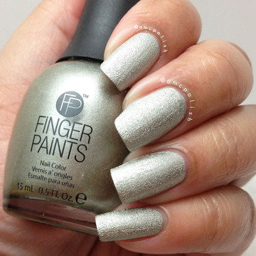 Finger Paints Stone Cold Pewter Swatch by Amber Connor