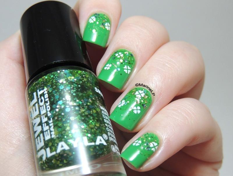 Happy St Patrick's Day nail art by Marine Loves Polish