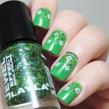 St patrick nails glitter gradient clover  2  thumb370f