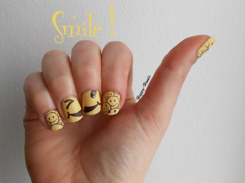 Happy ! nail art by Sarah Anaïs