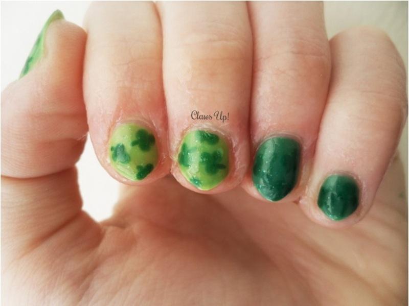 Hidden Shamrocks nail art by Jacquie
