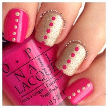 Pink and gold polka dots opi thumb370f