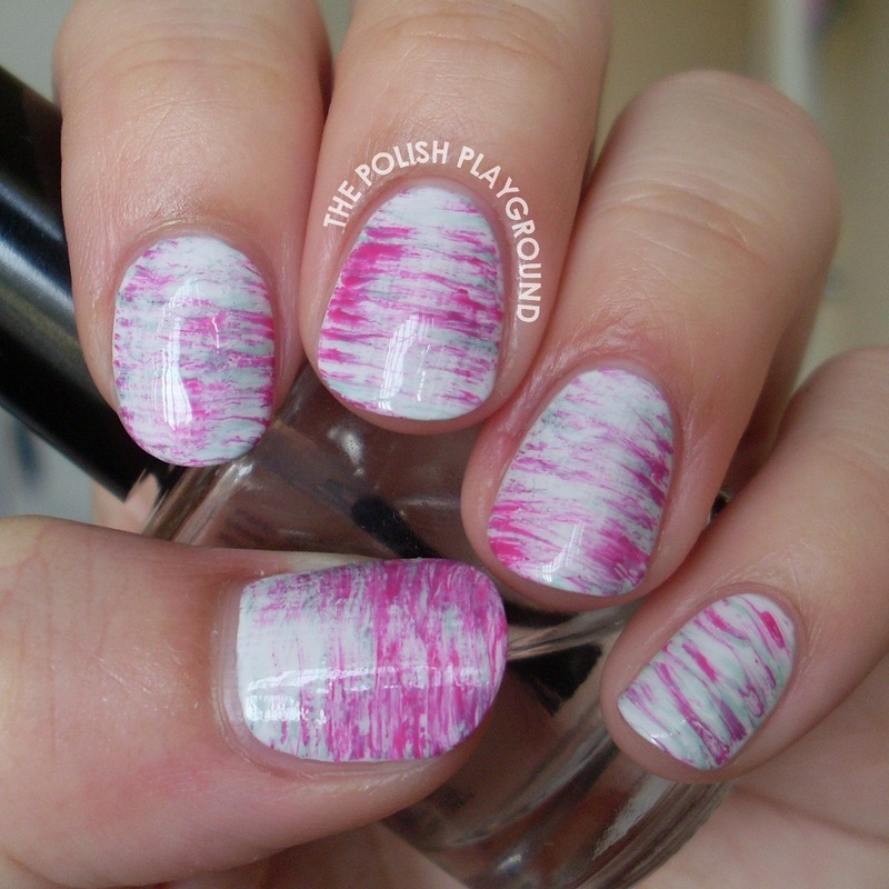 Mint and Pink Haze nail art by Lisa N