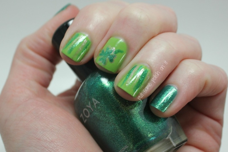 St Patty Day  nail art by Crystal