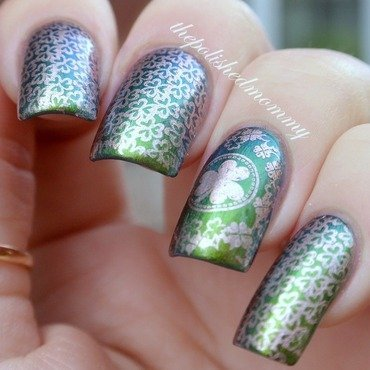 Happy St. Patrick's Day!!  nail art by The Polished Mommy