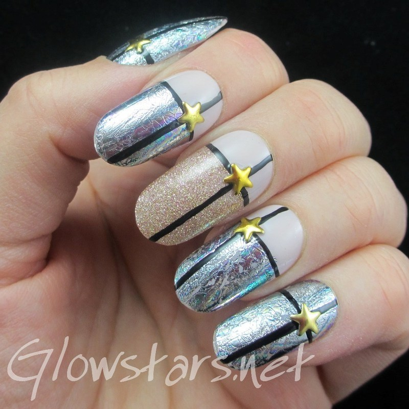 Fun With Foils nail art by Vic 'Glowstars' Pires