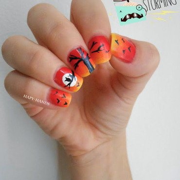 Autumn nail art by Sarah Anaïs