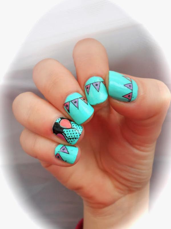 Carnival nail art by Sarah Anaïs