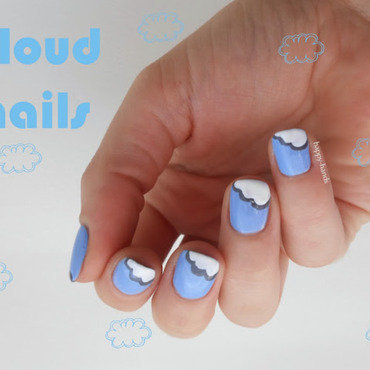 cloud nail art by Sarah Anaïs