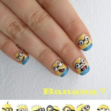 minion nailart nail art by Sarah Anaïs