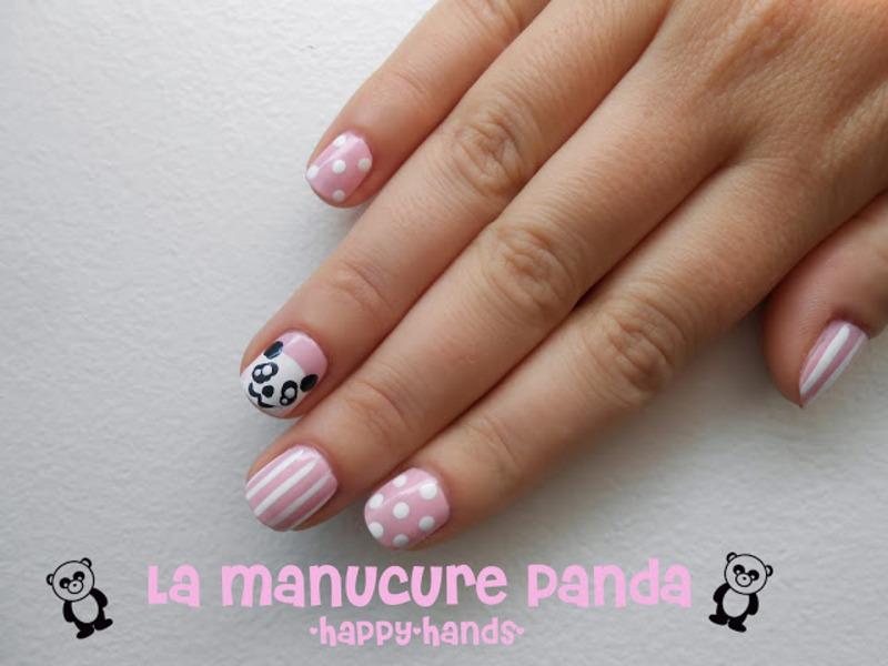 Panda Nail Art nail art by Sarah Anaïs