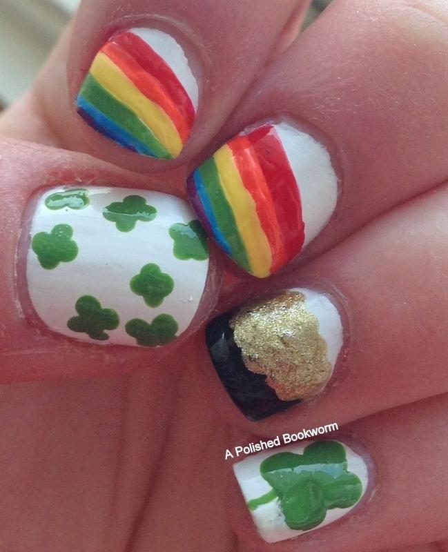 St. Patrick's Day Nails nail art by Kacey  Nelsestuen