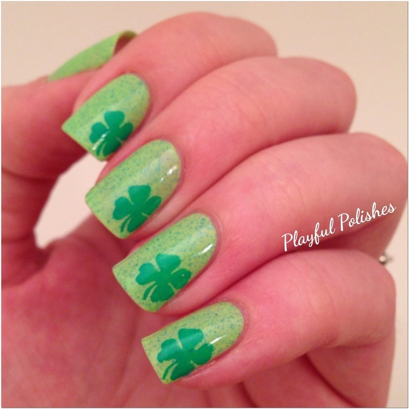 Cute & Simple St. Patty's Day Design nail art by Playful Polishes