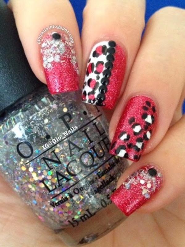 Shiny Leopard nail art by Giovanna - GioNails