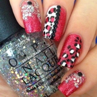 Shiny Leopard nail art by Giovanna - GioNails