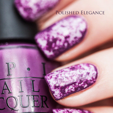 Purple saran wrap nail art by Lisa