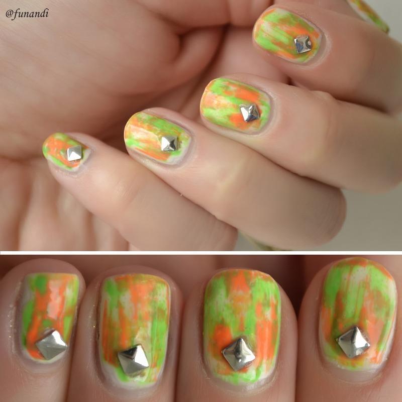 Distressed nails nail art by Andrea  Manases