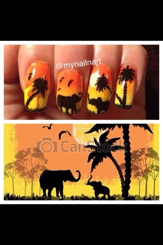 safari nail art by mynailnart