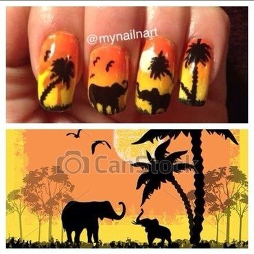 safari nail art by mynailnart