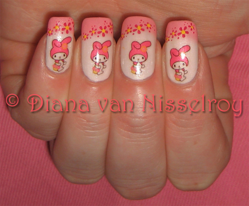 My Melody Nail Art By Diana Van Nisselroy Nailpolis Museum Of