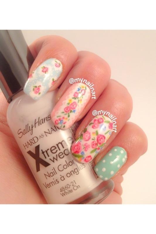 cath kidston nails  nail art by mynailnart
