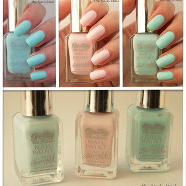 Barry M Rose Hip, Barry M Huckleberry, and Barry M Sugar Apple Swatch by The Naily Mail