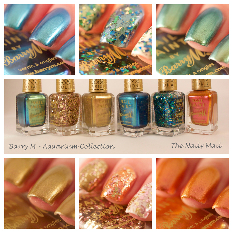 Barry M Aquarium Collection Swatch by The Naily Mail