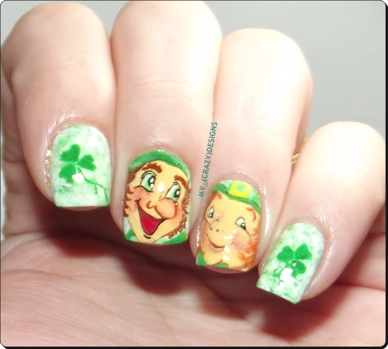 St. Patrick's Day nails nail art by Mycrazydesigns