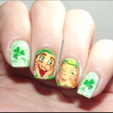 St. Patrick's Day nails nail art by Mycrazydesigns
