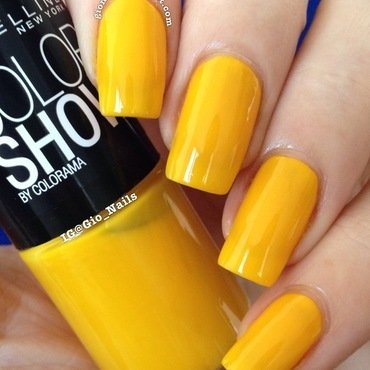 Maybelline Colorshow Electric Yellow Swatch by Giovanna - GioNails