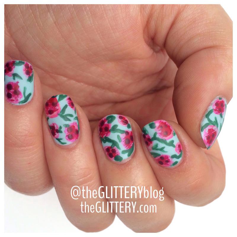 Wild about florals!  nail art by Ari  Fund