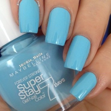 Maybelline Uptown Blue Swatch by Giovanna - GioNails