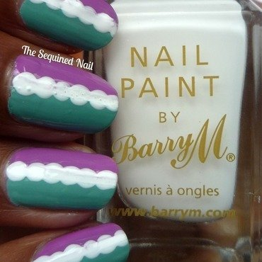 Half and Half nail art by TheSequinedNail