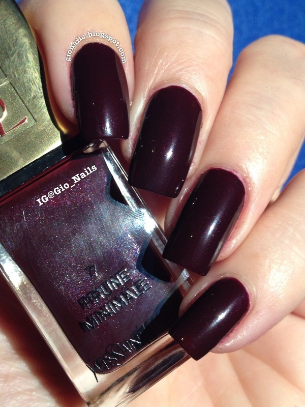 Yves Saint Laurent Prune Minimale Swatch by Giovanna - GioNails ...