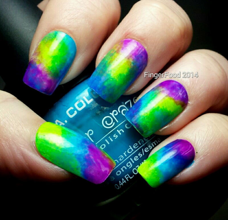 Tri Polish Tie Dye Retro nail art by Sam