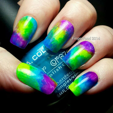 Tri Polish Tie Dye Retro nail art by Sam