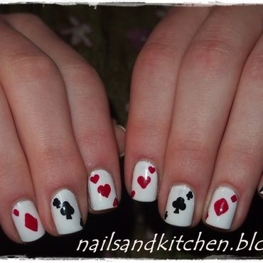Queen of cards nail art by Eliza