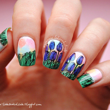 Tulips nail art by Olaa