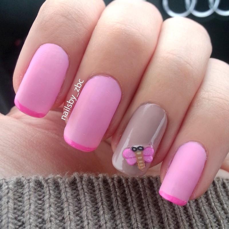 baby pink ♥ nail art by Zeynep Celikel